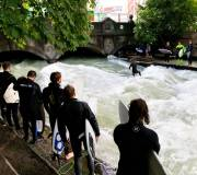 Munich - The famous Eisbach wave
